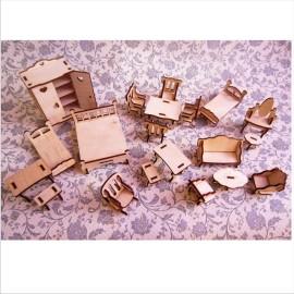 Набор мебели для кукольного домика