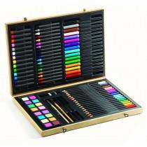 Большой художественный набор: карандаши, фломастеры, краски