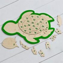 Пазл «Черепаха-Цифры»