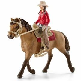 Всадница на лошади в красном Schleich