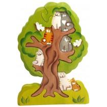 Пазл Кошки на дереве