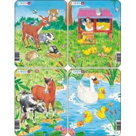 Пазл Милые животные (4), в ассортименте, 10 деталей