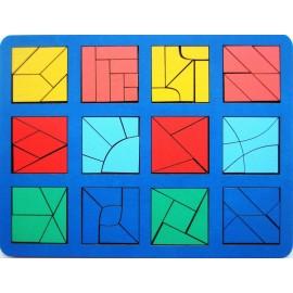 Сложи квадрат Б.П. Никитина 3 уровень (макси)