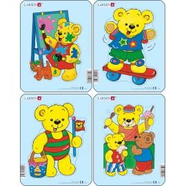 Пазл Медвежата (4), в ассортименте, 5 деталей