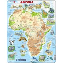 Пазл Животные Африки, русский, 63 детали