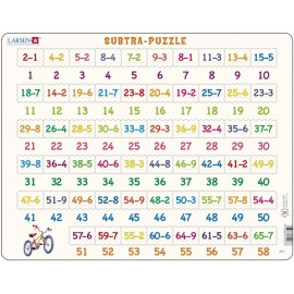 Пазл Математика Вычитание, 58 деталей