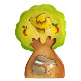 Пазл Заяц в дереве