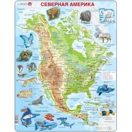 Пазл Животные Северной Америки, русский, 66 деталей
