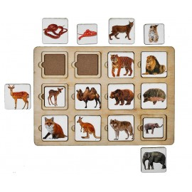 """Развивающая игра """"Секретики зоопарк"""""""