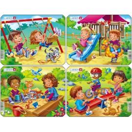 Детская игровая площадка (4) в ассортименте, 7 деталей