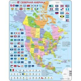 Пазл Северная Америка (Русский), 70 деталей