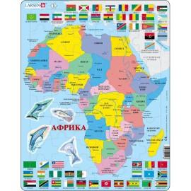 Пазл Африка, русский, 70 деталей
