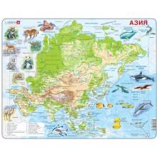 Пазл Животные Азии, русский, 63 детали