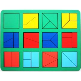Сложи квадрат Б.П. Никитина 1 уровень (макси)
