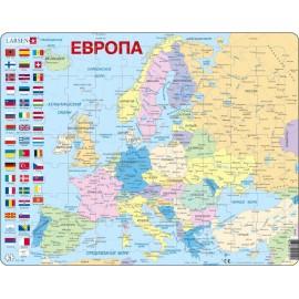 Пазл Европа (Русский), 70 деталей
