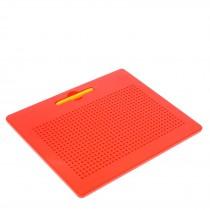 Планшет обучающий «Магнитное рисование», 714 отверстий, цвет в ассортименте красный, черный