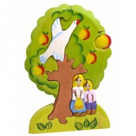 Пазл Гуси-лебеди яблоня