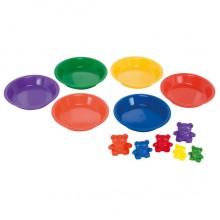 Цветные тарелки для сортировки, 6шт.