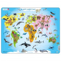 A34 - Карта мира с животными