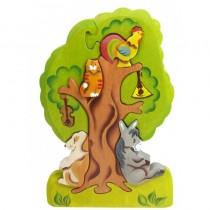 Пазл Бременские музыканты на дереве