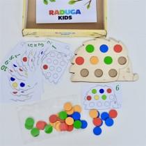 """Развивающая игра """"Повтори за ежиком"""" в картонной коробке"""